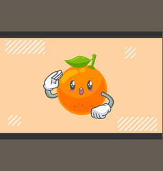 Wow surprised amazed dismay face orange citrus vector