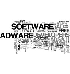 adware are downloads safe text word cloud concept vector image vector image