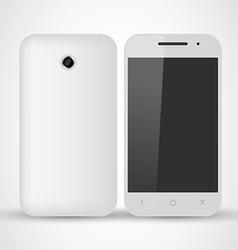 Common White SmartPhone vector image vector image