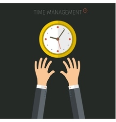 Concept of time management vector image vector image