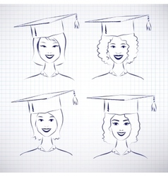Female students vector image vector image