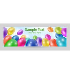 Festive background banner template vector image vector image