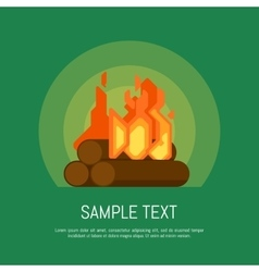 Isolated bonfire icon vector image