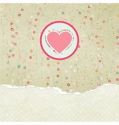 Valentine heart card vector image