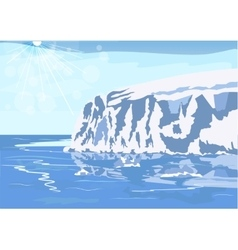 Antarctic iceberg in the snow vector image vector image
