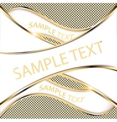 gold background with a wave vector image
