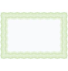 guilloche green horizontal frame vector image vector image