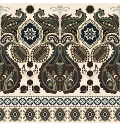 Seamless Paisley background floral pattern vector image vector image