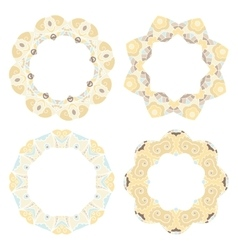 Set of decorative round frames vector image vector image