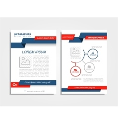 Brochure design layout vector image vector image