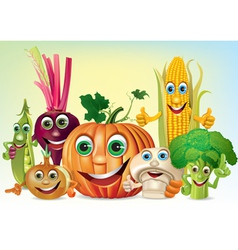 Company of vegetables vector image vector image