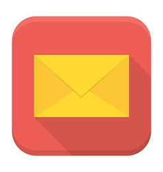 Envelope app icon with long shadow vector image