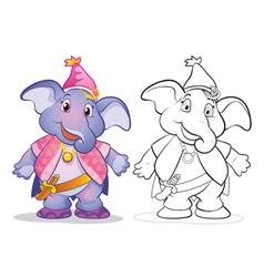 Fantasy mascot elephant cartoon vector image
