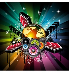 global musical event background vector image vector image