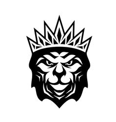 Heraldic crowned Lion vector image vector image