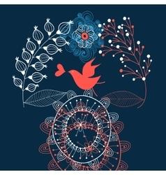 love graphics birdie on vegetable vector image