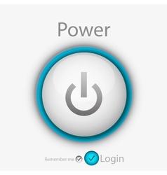 power login button vector image vector image