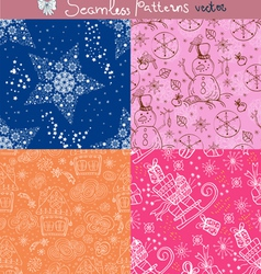 seamless background set vector image vector image