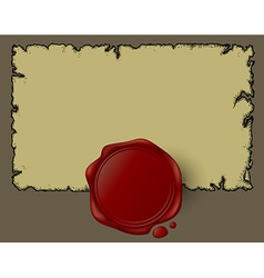 Vintage document design vector image vector image