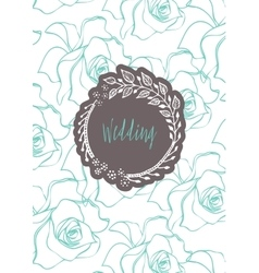 Creative template card vector image vector image