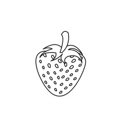 figure strawberry fruit icon stock vector image vector image