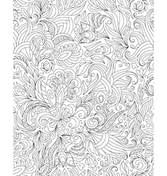 Pattern for coloring book Ethnic floral retro vector image