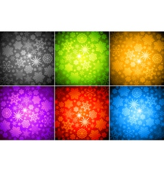 set of christmas background vector image vector image
