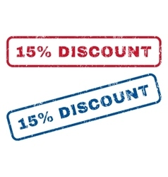 15 Percent Discount Rubber Stamps vector