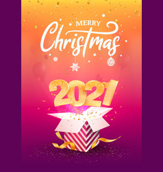 2021 happy new year a4 card vector