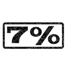 7 percent watermark stamp vector