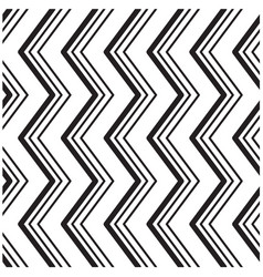 abstract chevrons black and white pattern backgrou vector image