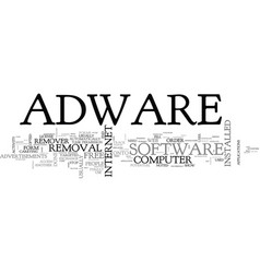 Adware explained text word cloud concept vector