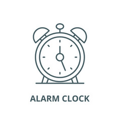alarm clock line icon outline concept vector image