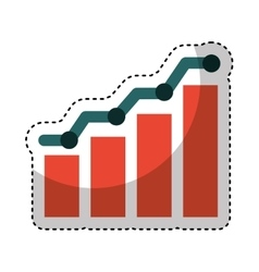 bars statistics isolated icon vector image