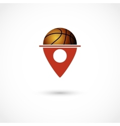 Basketball club tag vector image