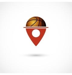 Basketball club tag vector image vector image