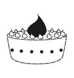 birthday cake design vector image
