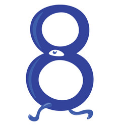 Blue animal shaped numerical number eight or color vector