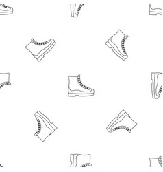 boots icon outline style vector image