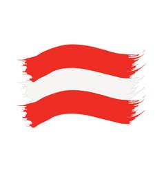 brushstroke painted flag austria vector image