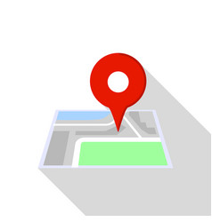 building pin map icon flat style vector image