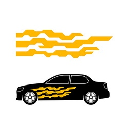 car sticker side door decal tech geometric vector image
