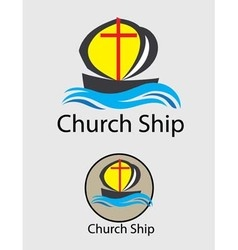 Church Ship Logo vector