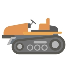 Classic agricultural machinery vector