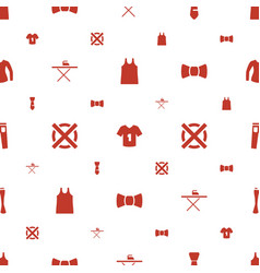 Clothes icons pattern seamless white background vector