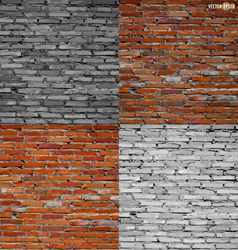 Collection of brick wall background vector