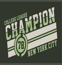 college league champion vector image