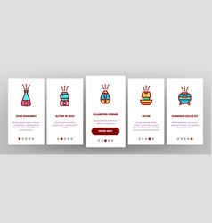 Color different humidifier onboarding vector
