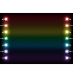 colorful light bulbs vector image