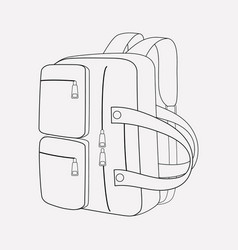 convertible bag icon line element vector image